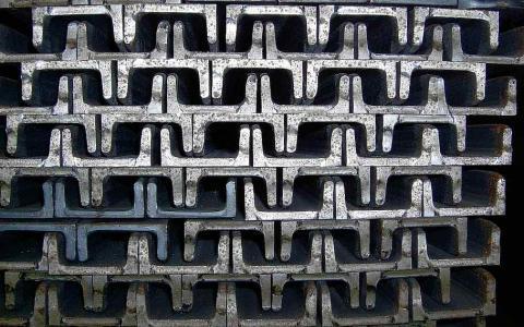 Perfil de hierro estructural para la construcción