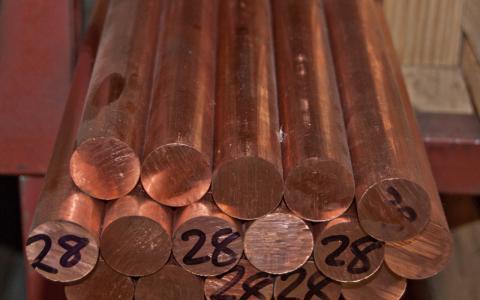 Imagen de barra de cobre