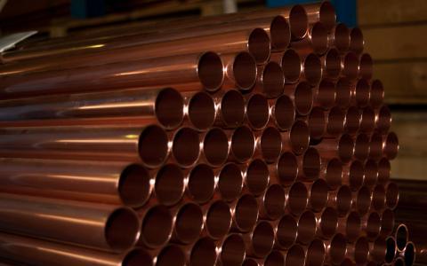 Imagen tubo de cobre
