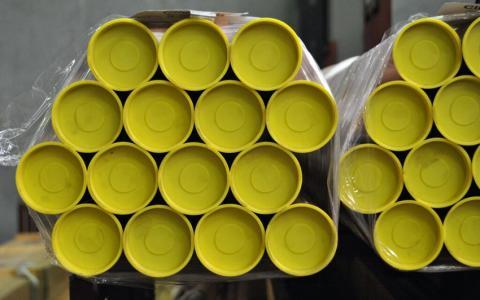 Imagen tubo de cobre con tapones